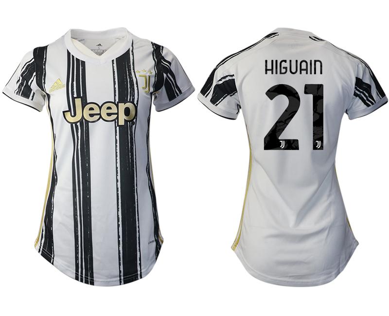 Women 2020-2021 Juventus home aaa version 21 white Soccer Jerseys