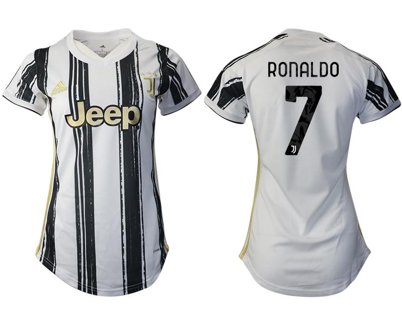 Women 2020-2021 Juventus home aaa version 7 white Soccer Jerseys