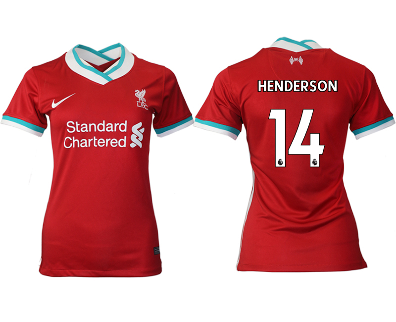 Women 2020-2021 Liverpool home aaa version 14 red Soccer Jerseys