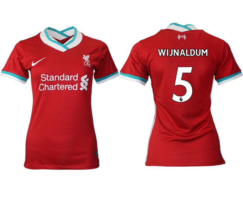 Women 2020-2021 Liverpool home aaa version 5 red Soccer Jerseys