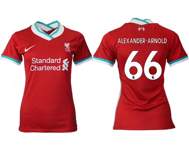 Women 2020-2021 Liverpool home aaa version 66 red Soccer Jerseys