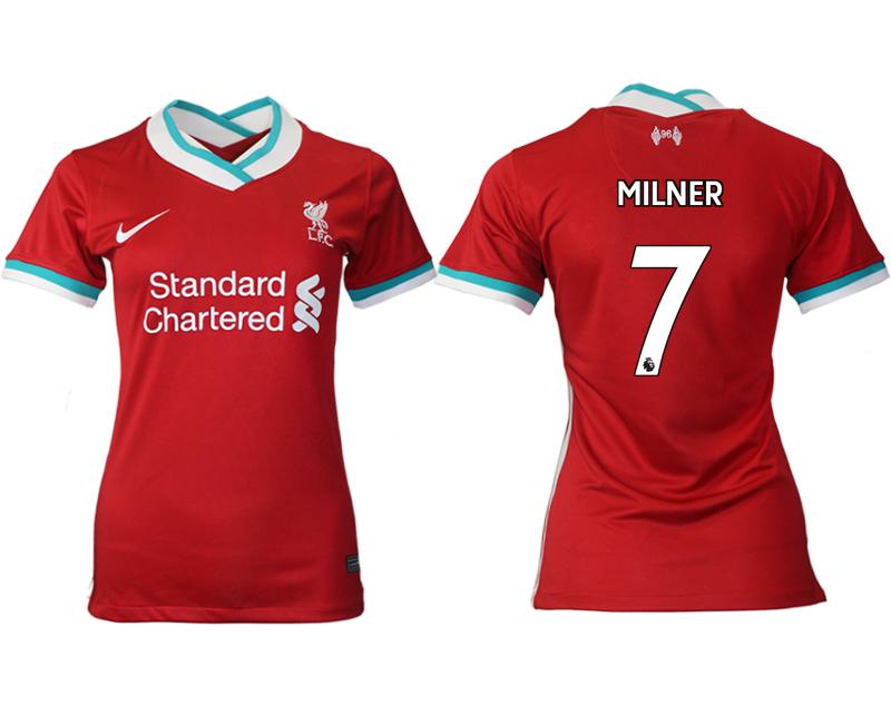 Women 2020-2021 Liverpool home aaa version 7 red Soccer Jerseys