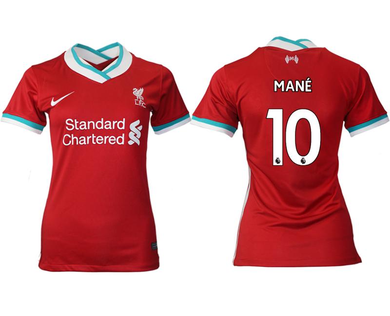 Women 2020-2021 Liverpool home aaa version 10 red Soccer Jerseys