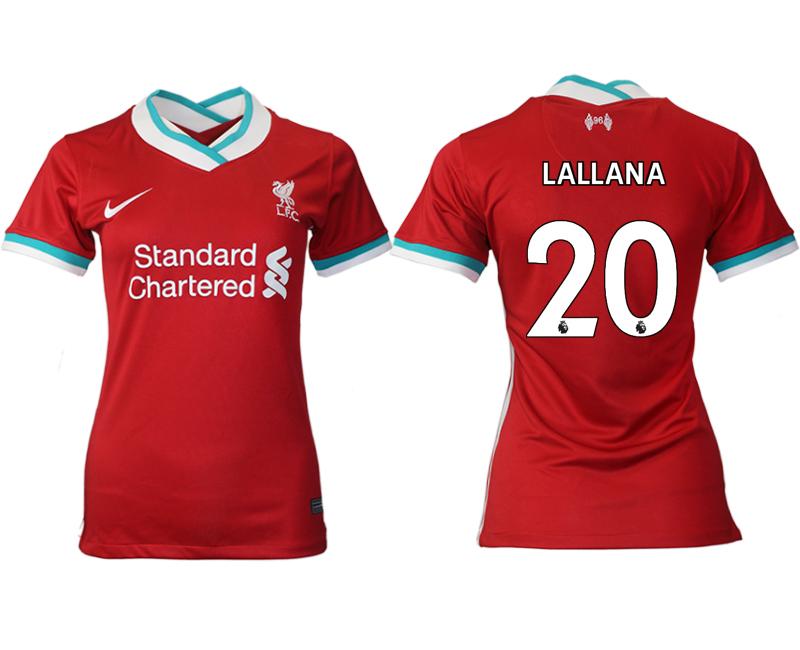 Women 2020-2021 Liverpool home aaa version 20 red Soccer Jerseys