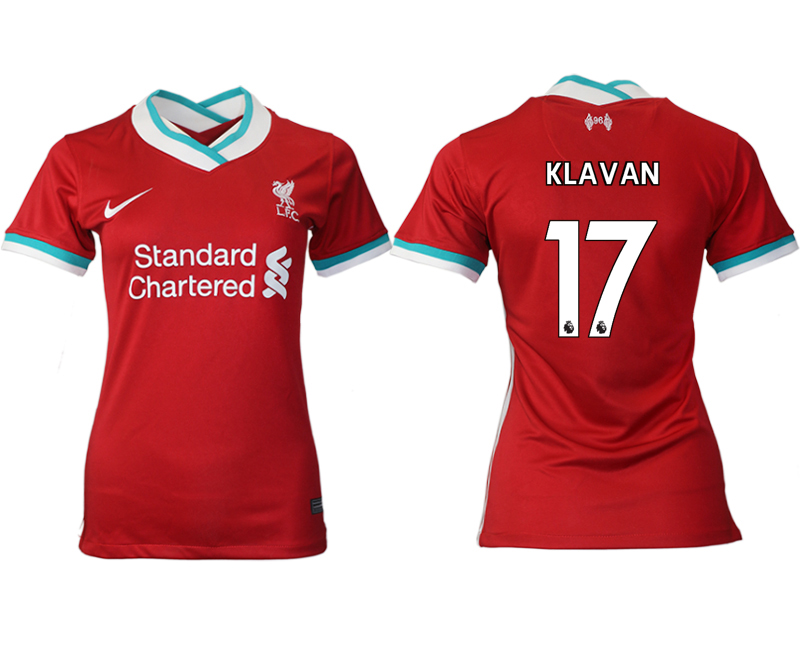 Women 2020-2021 Liverpool home aaa version 17 red Soccer Jerseys