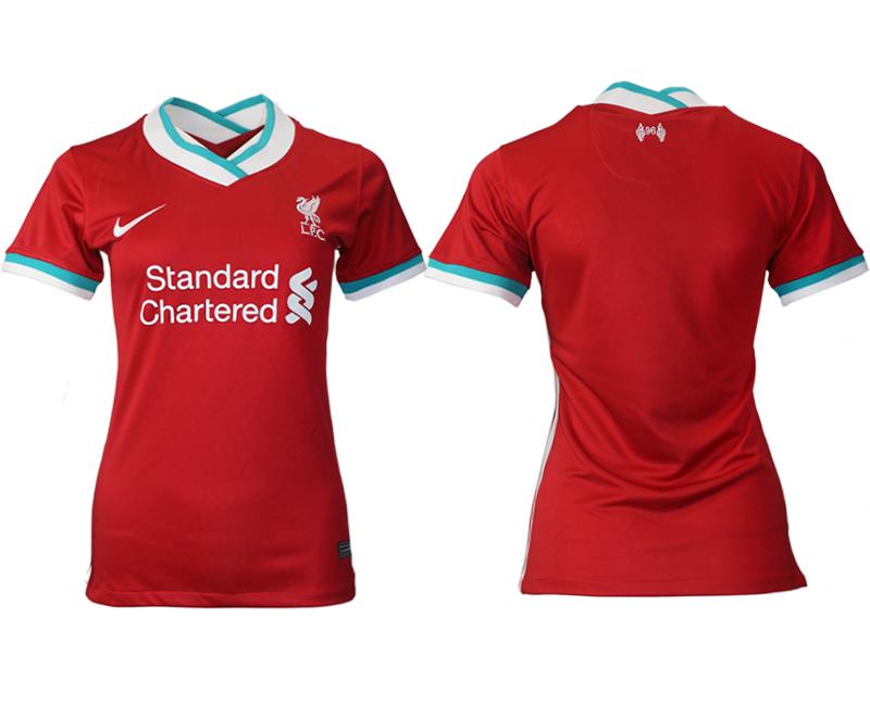 Women 2020-2021 Liverpool home aaa version blank red Soccer Jerseys