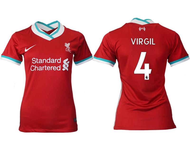 Women 2020-2021 Liverpool home aaa version 4 red Soccer Jerseys