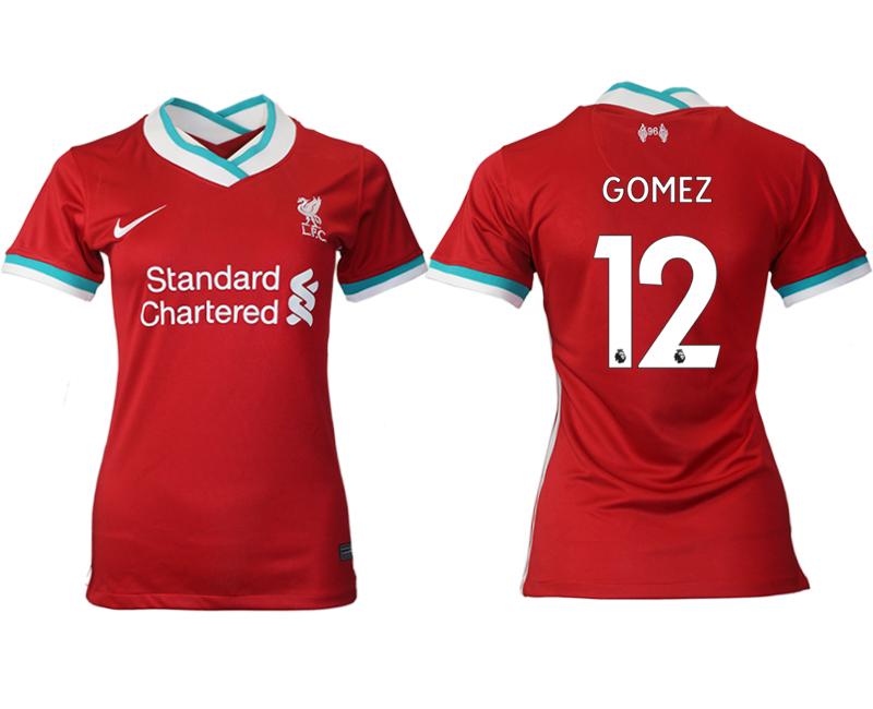 Women 2020-2021 Liverpool home aaa version 12 red Soccer Jerseys