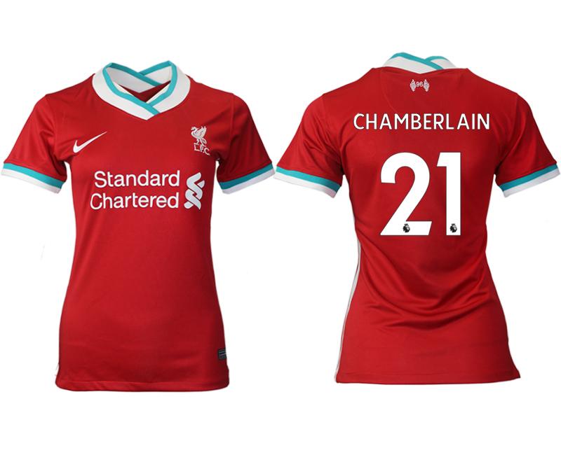 Women 2020-2021 Liverpool home aaa version 21 red Soccer Jerseys
