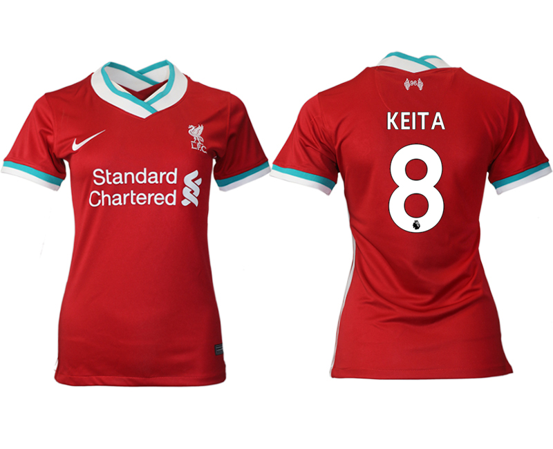 Women 2020-2021 Liverpool home aaa version 8 red Soccer Jerseys