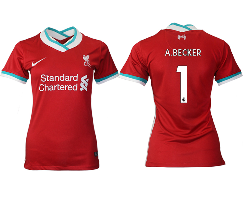 Women 2020-2021 Liverpool home aaa version 1 red Soccer Jerseys