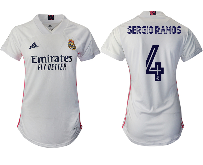 Women 2020-2021 Real Madrid home aaa version 4 white Soccer Jerseys