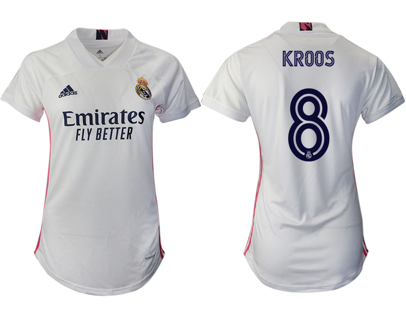 Women 2020-2021 Real Madrid home aaa version 8 white Soccer Jerseys