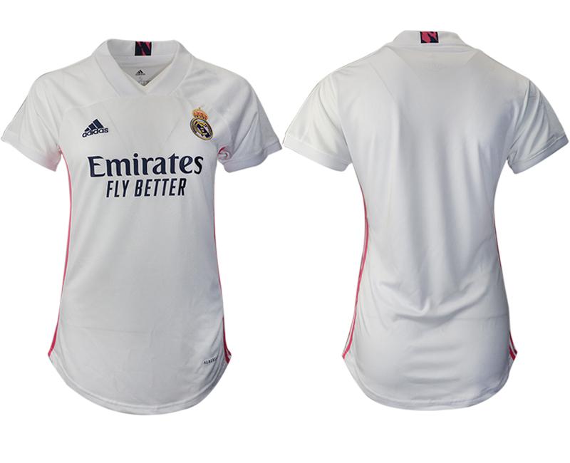 Women 2020-2021 Real Madrid home aaa version blank white Soccer Jerseys