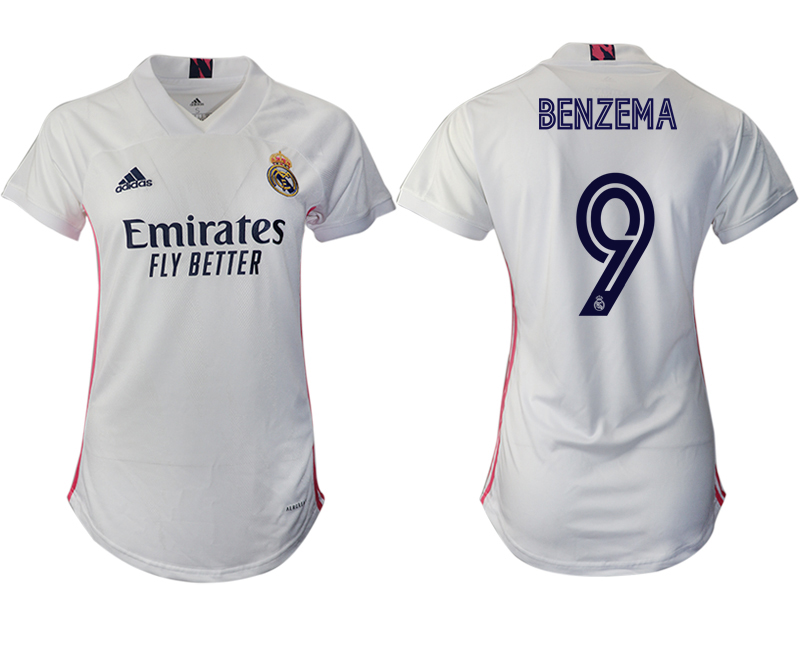 Women 2020-2021 Real Madrid home aaa version 9 white Soccer Jerseys