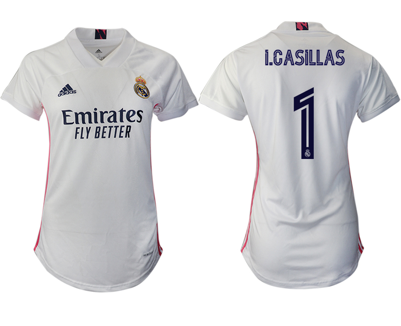 Women 2020-2021 Real Madrid home aaa version 1 white Soccer Jerseys1