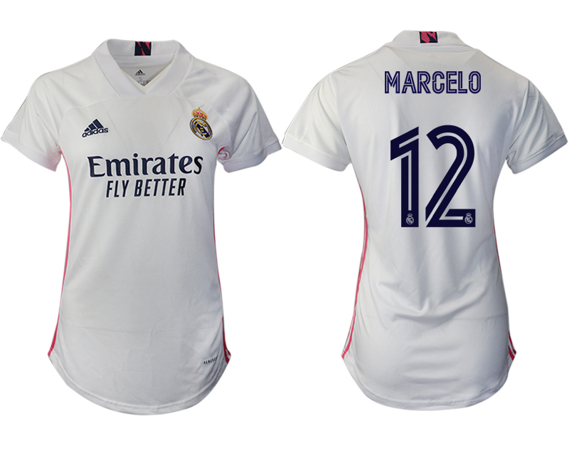 Women 2020-2021 Real Madrid home aaa version 12 white Soccer Jerseys