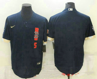 men's boston red sox blank navy blue 2021 mlb all star stitched cool base nike jersey