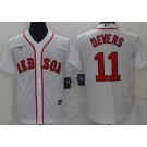 Men's Boston Red Sox #11 Rafael Devers White New Cool Base Stitched Nike Jersey