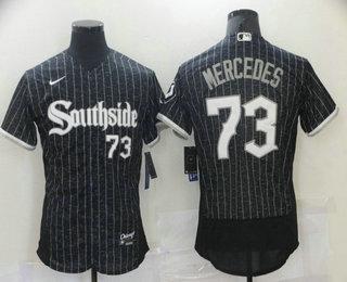 Men's Chicago White Sox #73 Yermin Mercedes Black 2021 City Connect Stitched MLB Flex Base Nike Jersey