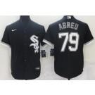 Men's Chicago White Sox #79 Jose Abreu Black Cool Base Stitched Nike Jersey