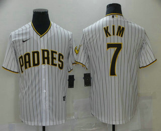 Men's San Diego Padres #7 Ha Seong Kim White Stitched MLB Cool Base Nike Jersey