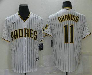 Men's San Diego Padres #11 Yu Darvish White Stitched MLB Cool Base Nike Jersey