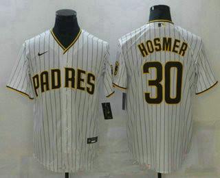 men's san diego padres #30 ha eric hosmer white stitched mlb cool base nike jersey