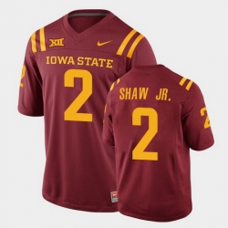 Men Iowa State Cyclones #2 Sean Shaw Jr. College Football Cardinal Replica Jersey