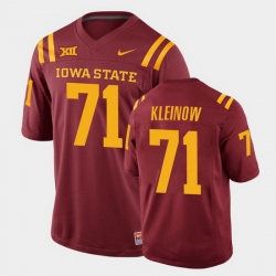 Men Iowa State Cyclones #71 Alex Kleinow College Football Cardinal Replica Jersey