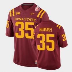 Men Iowa State Cyclones #35 Jake Hummel 2021 Fiesta Bowl Cardinal College Football Jersey