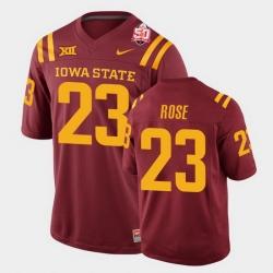 Men Iowa State Cyclones #23 Mike Rose 2021 Fiesta Bowl Cardinal College Football Jersey