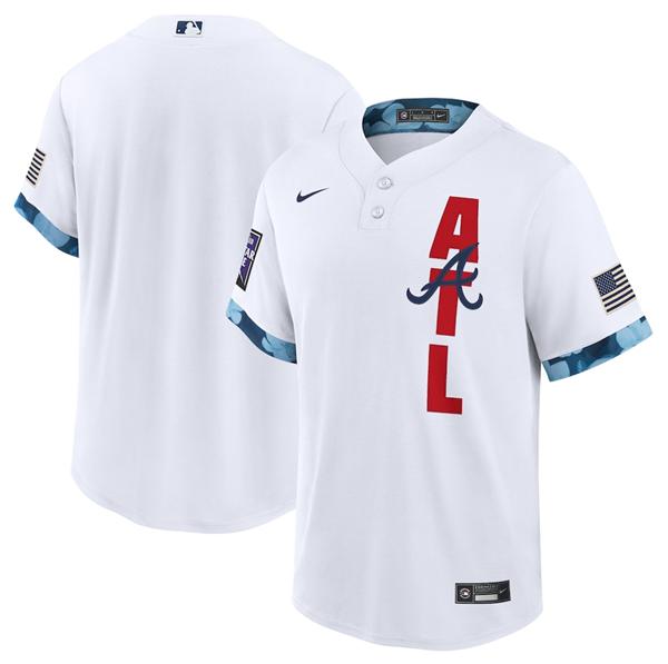 Men's Atlanta Braves Blank 2021 White All-Star Cool Base Stitched MLB Jersey