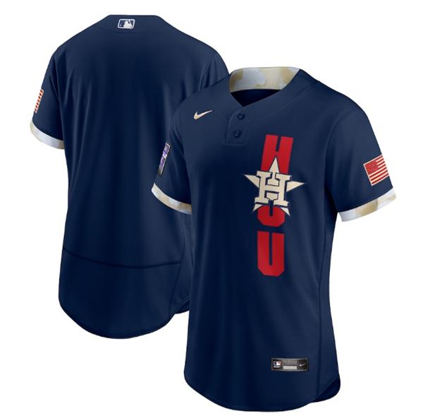 Men's Houston Astros Blank 2021 Navy All-Star Flex Base Stitched MLB Jersey