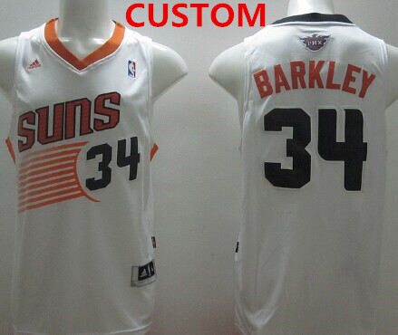 Custom phoenix suns revolution 30 swingman white jersey