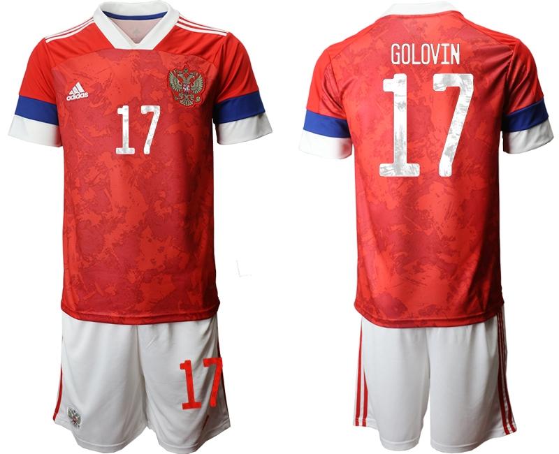 Men 2021 European Cup Russia red home 17 Soccer Jerseys