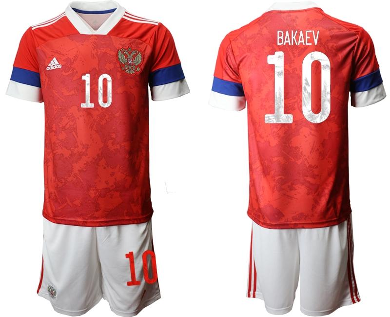 Men 2021 European Cup Russia red home 10 Soccer Jerseys