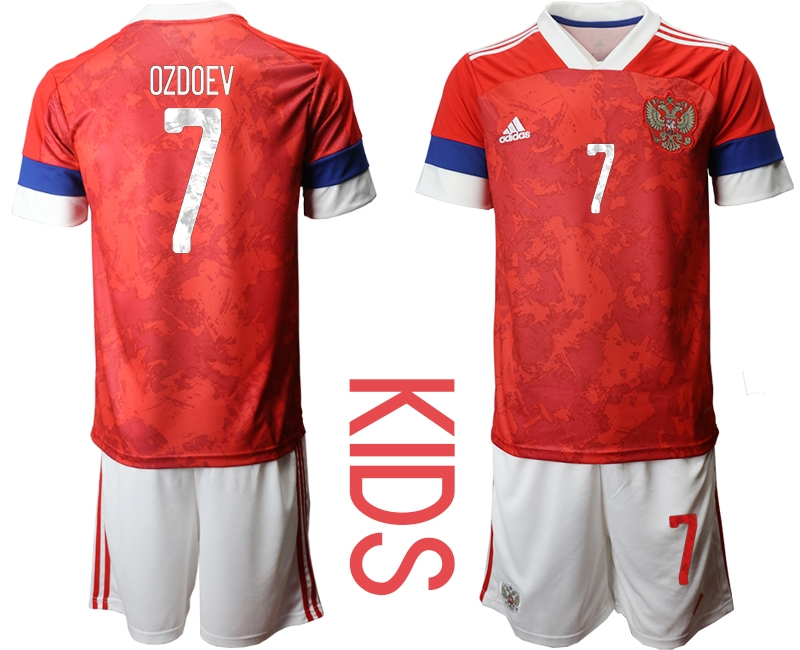 Youth 2021 European Cup Russia red home 7 Soccer Jerseys
