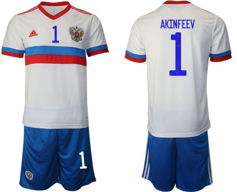 Men 2020-2021 European Cup Russia away white 1 Adidas Soccer Jersey