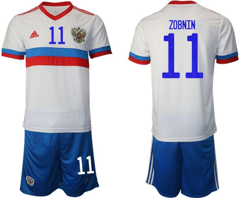Men 2020-2021 European Cup Russia away white 11 Adidas Soccer Jersey