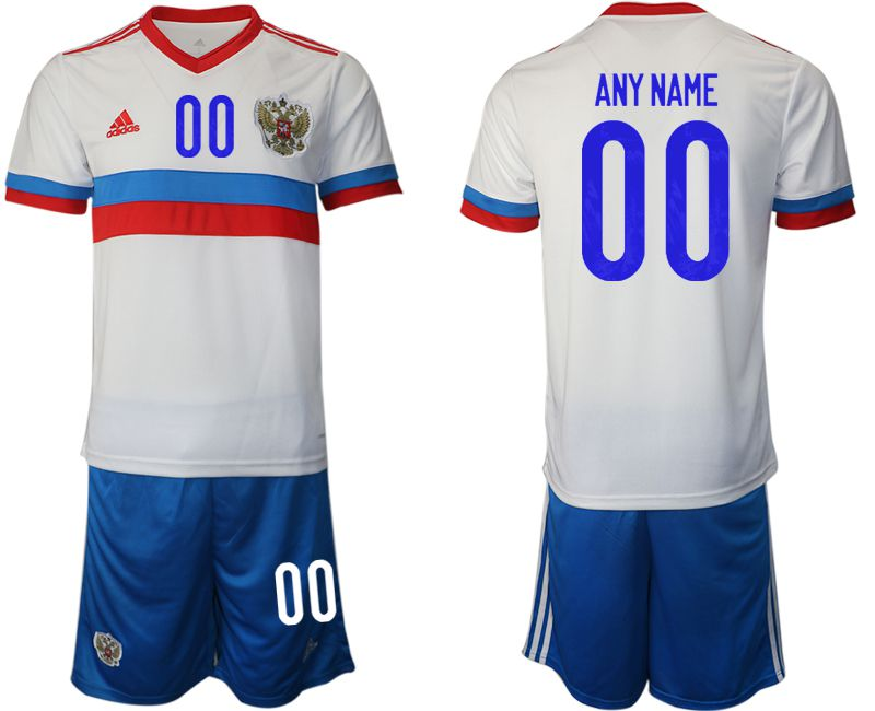 Men 2020-2021 European Cup Russia away white customized Adidas Soccer Jersey