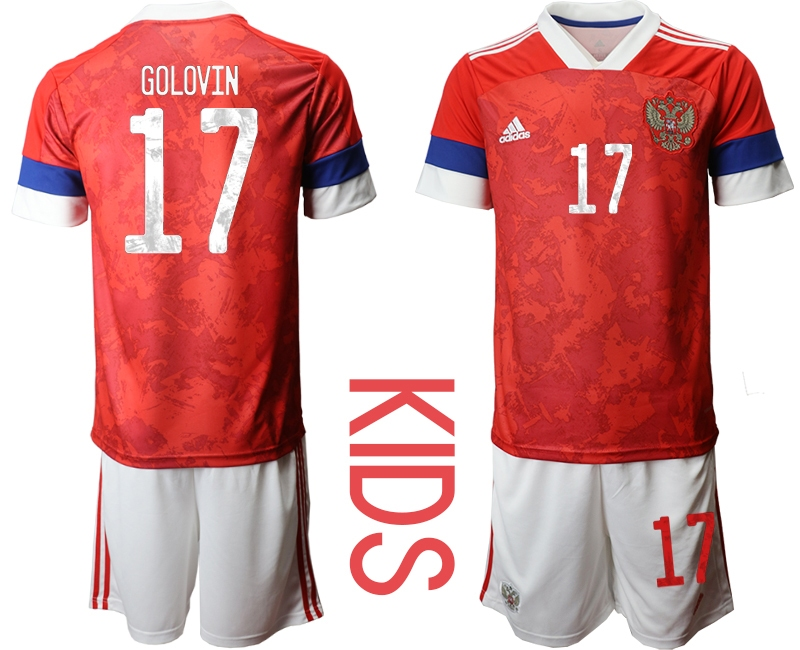 Youth 2021 European Cup Russia red home 17 Soccer Jerseys