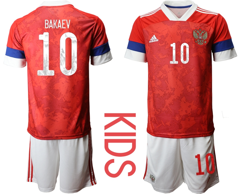 Youth 2021 European Cup Russia red home 10 Soccer Jerseys
