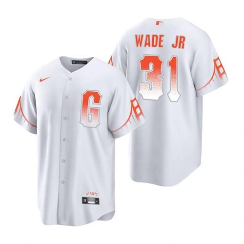 Mens San Francisco Giants #31 LaMonte Wade Jr City Connect MLB Cool Base Nike Jersey