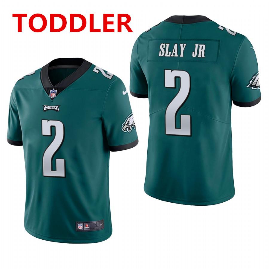 toddler philadelphia eagles #2 darius slay jr. midnight green vapor limited Nike jersey