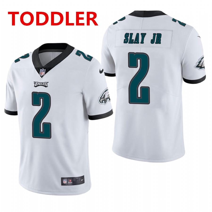 toddler philadelphia eagles #2 darius slay jr. white vapor limited Nike jersey
