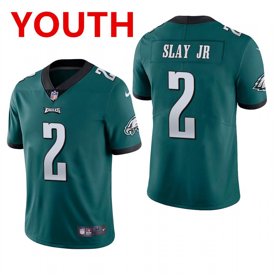 youth philadelphia eagles #2 darius slay jr. midnight green vapor limited Nike jersey