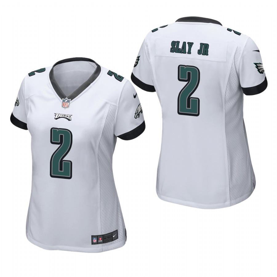 Women's Philadelphia Eagles #2 Darius Slay Jr. White Game Nike Jersey