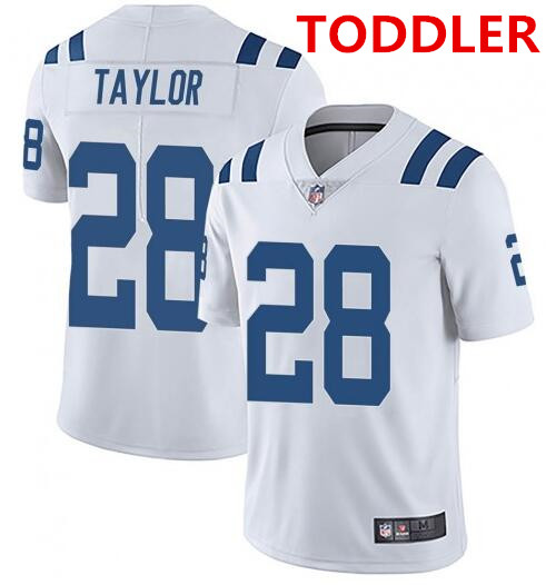 Toddler indianapolis colts #28 jonathan taylor white stitched nike jersey