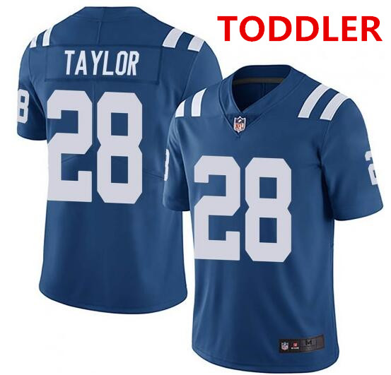 Toddler indianapolis colts #28 jonathan taylor blue stitched nike jersey